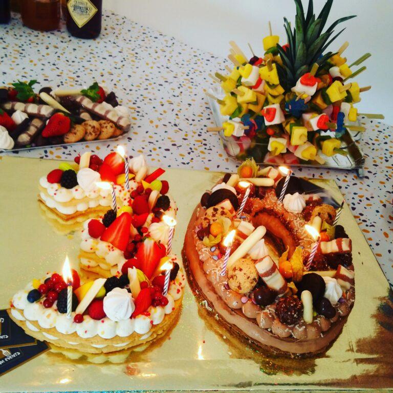number cake anniversaire